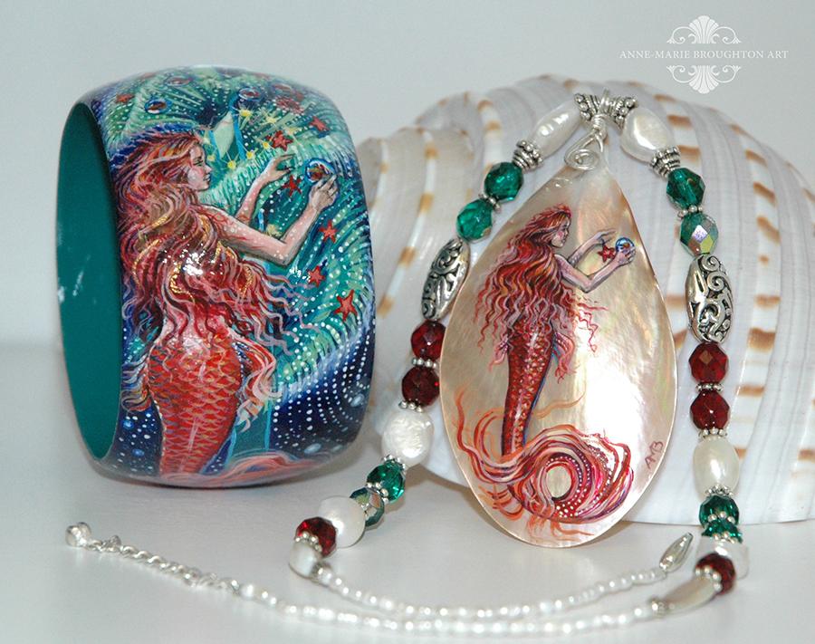 Christmas Mermaid Jewellery Set by Mocten