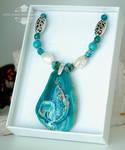 Crystal Lagoon Mermaid Pendant Necklace