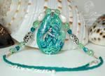 Emerald Cove Handpainted Mermaid Pendant