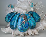 The Water Garden Handpainted Mermaid Necklace