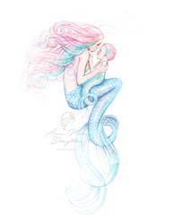 Mother Mermaid Full Colour version by Mocten