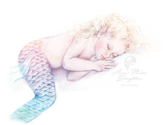 Sleeping Baby Mermaid full colour by Mocten