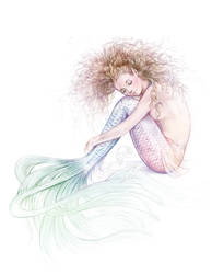 Tranquil Mermaid full colour by Mocten