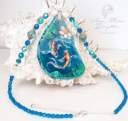 Another view Koi Fish Pisces Pendant by Mocten