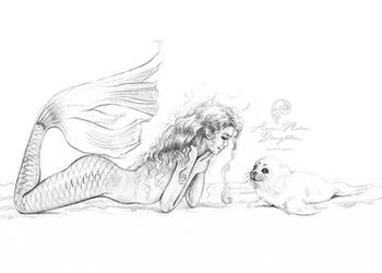 Arctic Mermaid by Mocten