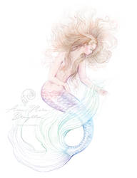 Washed Ashore Mermaid Full Colour by Mocten