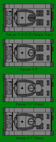 WW2 Pixels - German Tank Lineup - Panzer III by Imp344 on