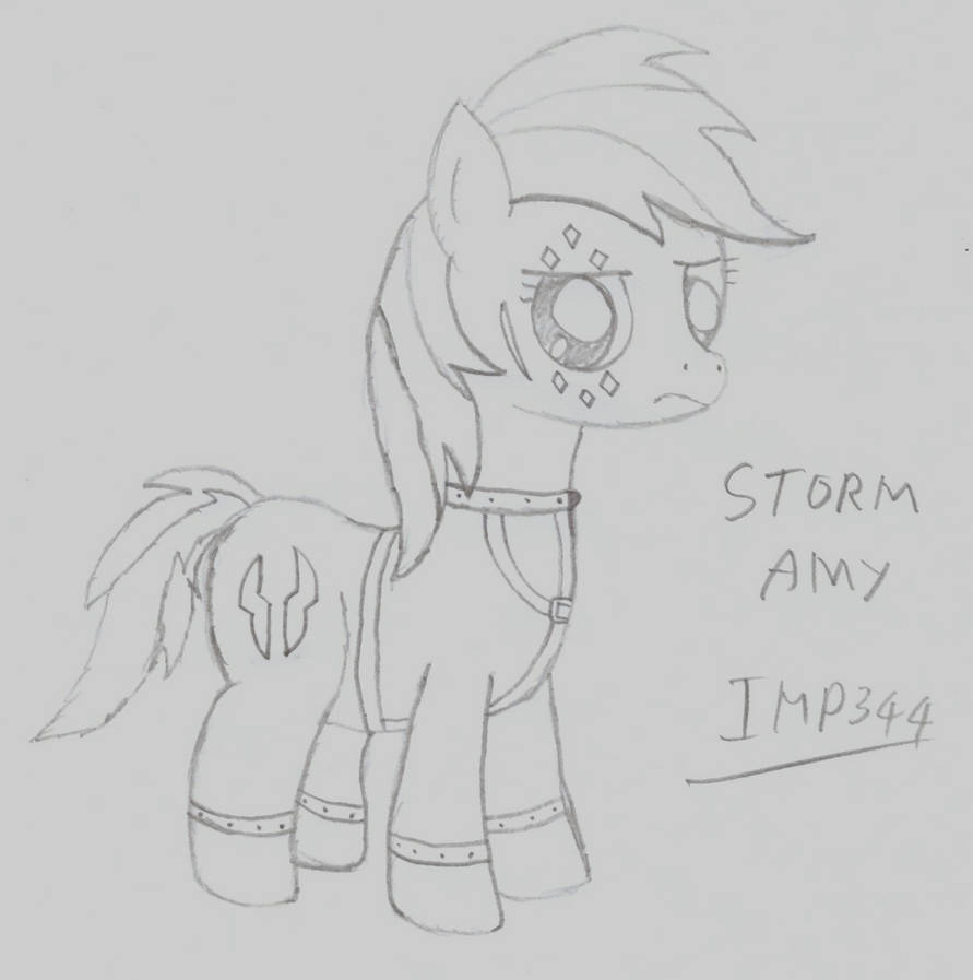 Amy Wip drawing/sketch - storm amy (wip)imp344 on deviantart