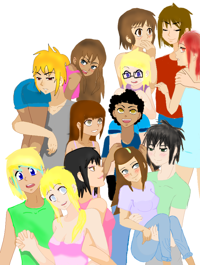 My Oc group base by Retarded-Rooster on deviantART