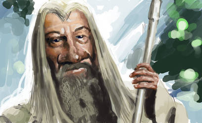 Gandalf Characiture