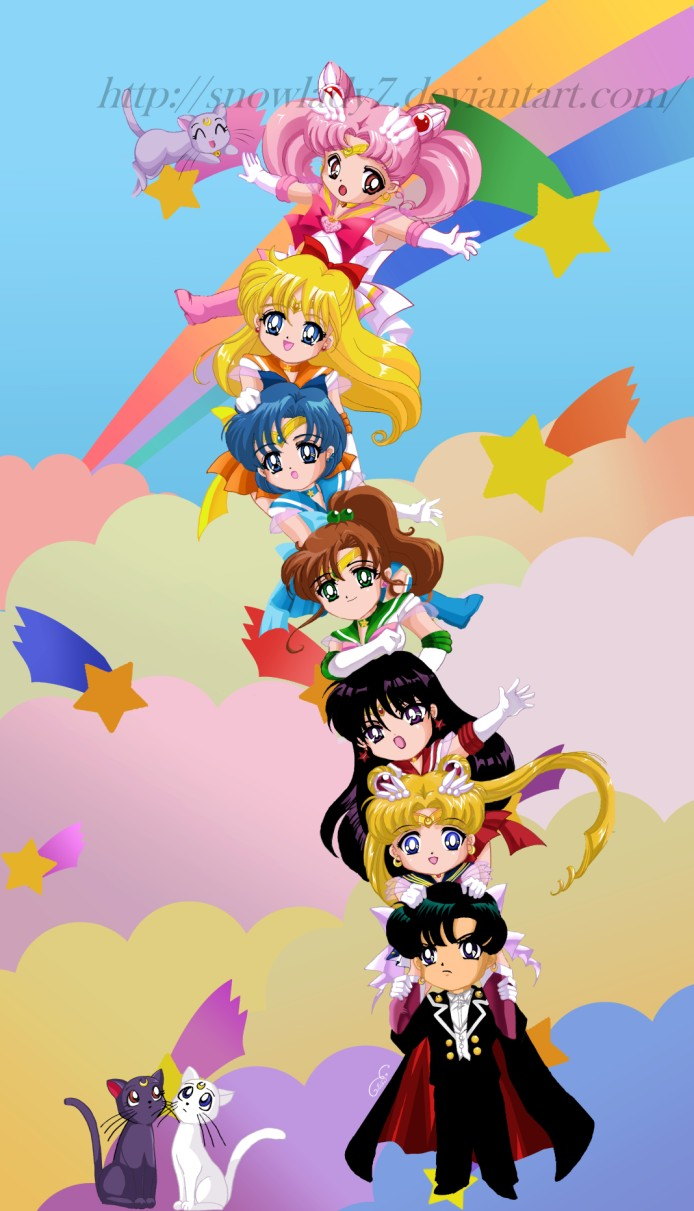 Chibis de Sailor Moon Sailor_moon_chibi_team_tower_by_SnowLady7