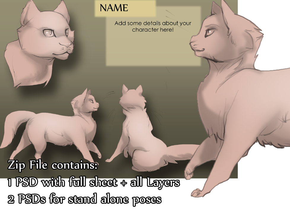 Basic Cat Character Pack by skulldog