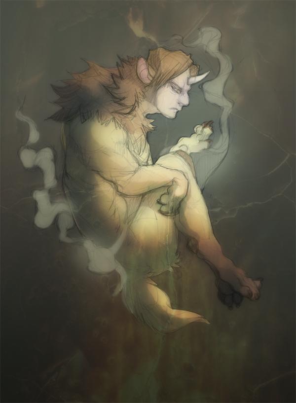 Sketch: Rusted Greens by skulldog