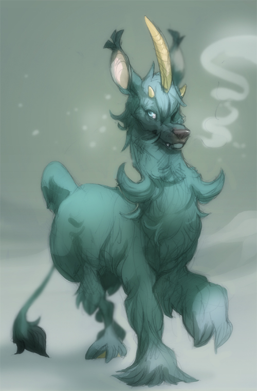 Sketch: Winter Coat by skulldog