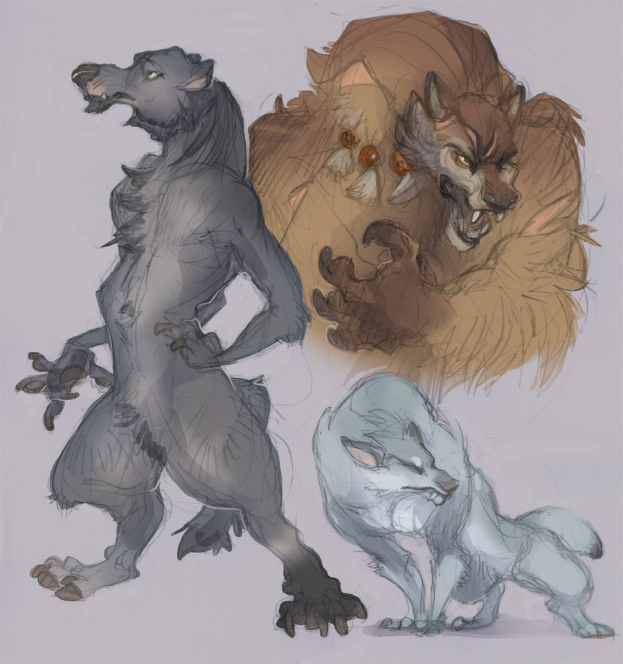 Sketch: Werewalfs by skulldog