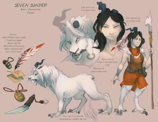 Character Sheet: Sunder by skulldog