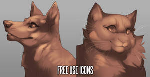 Free use Icons: Dog and Cat