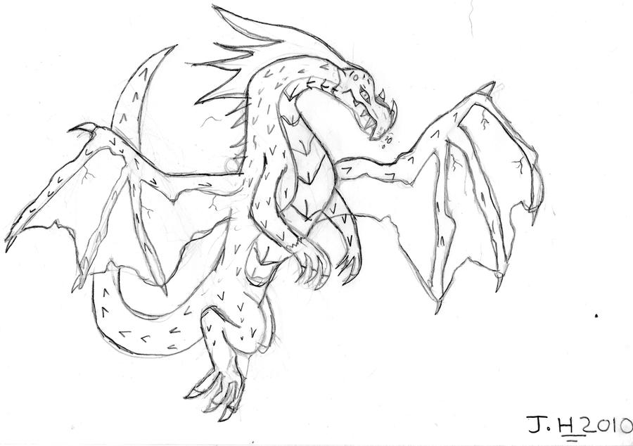 How To Draw Scary Dragon