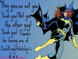 Batgirl is happy by DarkKinightWatcher