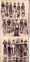 20-s fashion Moleskine doodles