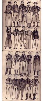 20-s men fashion doodles