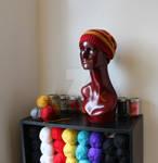 Gryffindor Inspired Crochet Slouchy Hat 1