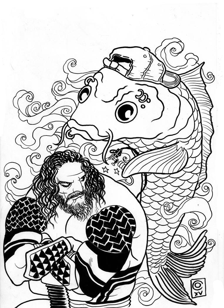 Aquaman Tattoo Design: Aquaman Tattoo By Caiooliveira On DeviantArt