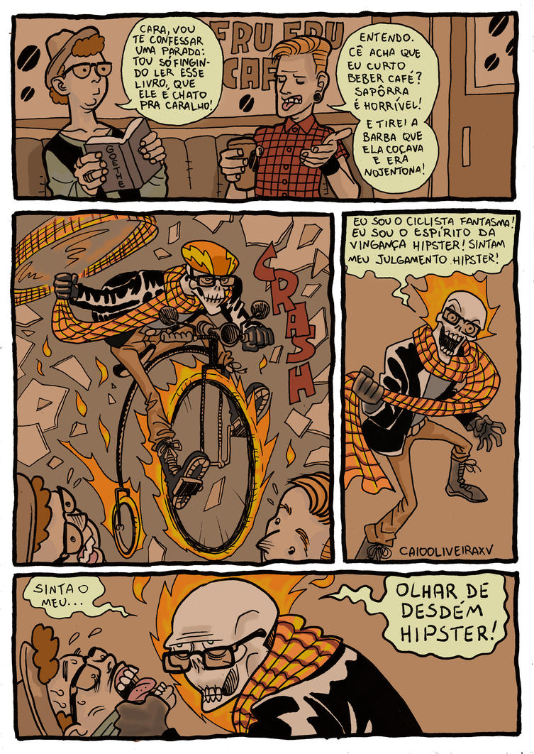 The All New All Different All Hipster Ghost Rider by caiooliveira