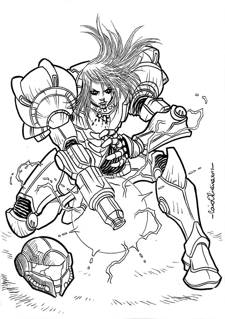 Samus Super Metroid by caiooliveira