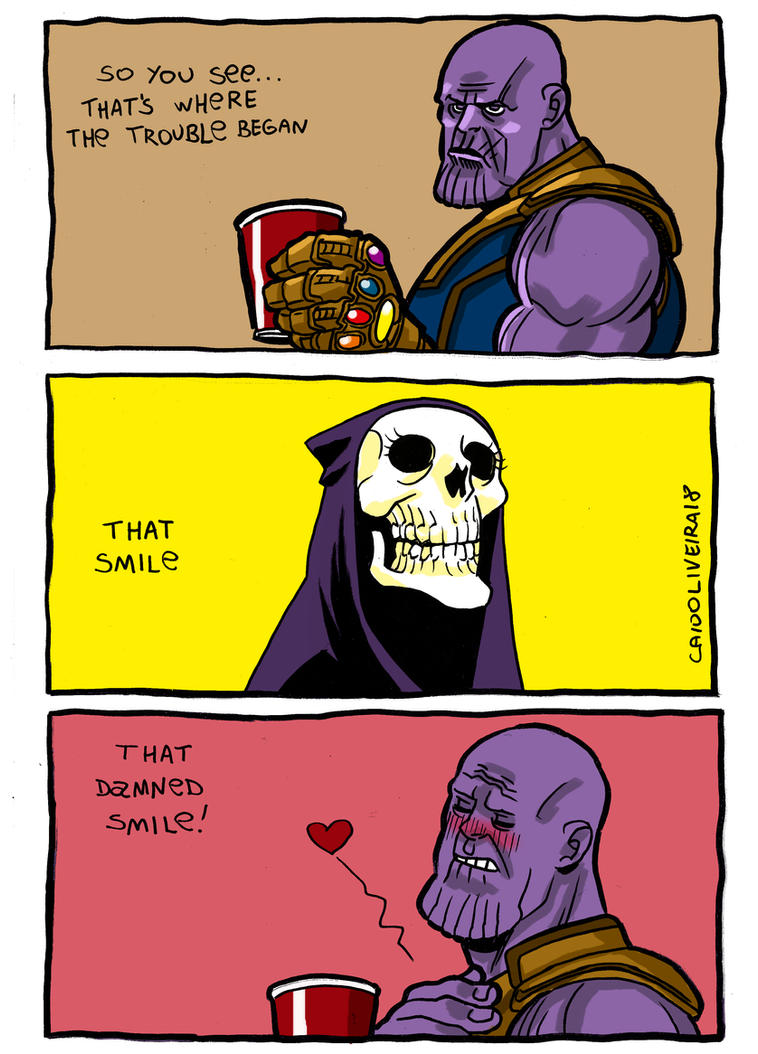 Thanos Death Smile by caiooliveira