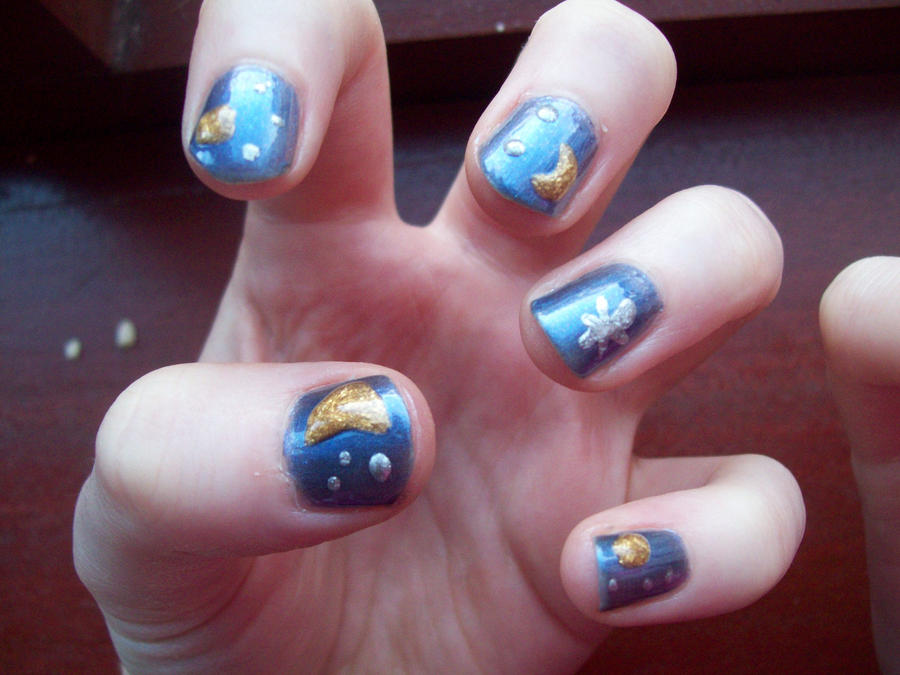 Night Sky Nails by BlueBlasta on DeviantArt