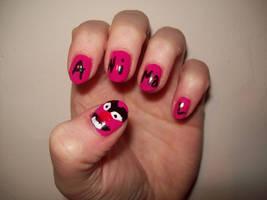 Animal Muppets Nail Art by BlueBlasta