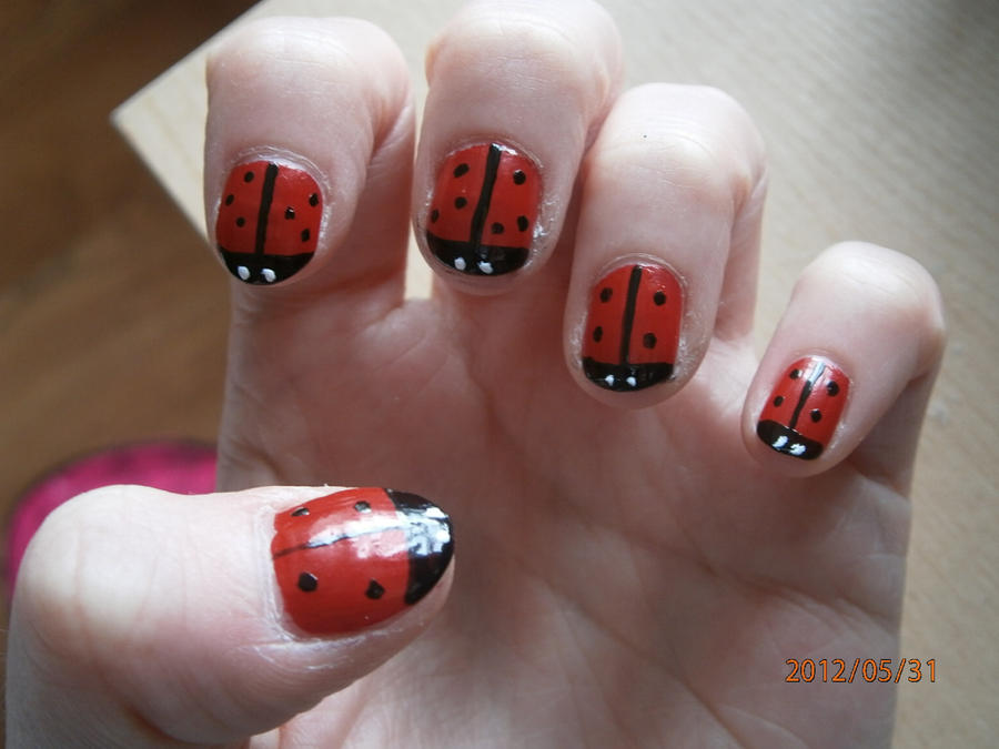 Ladybird nail art by blueblasta on deviantart ladybird nail art by blueblasta prinsesfo Image collections