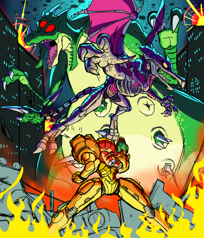 Metroid Tribute - Pirate Raid! by SchAlternate
