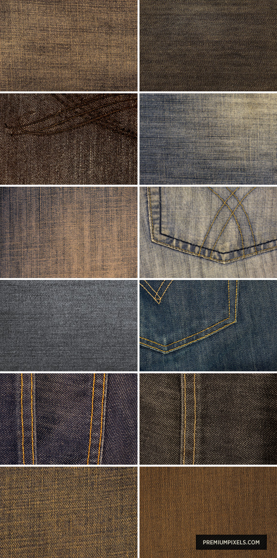 12 High-Res Denim Textures by ormanclark
