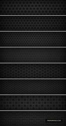 8 Dark Metal Grid Patterns by ormanclark