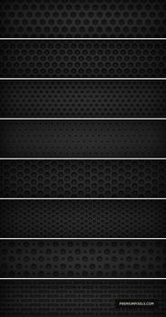 8 Dark Metal Grid Patterns