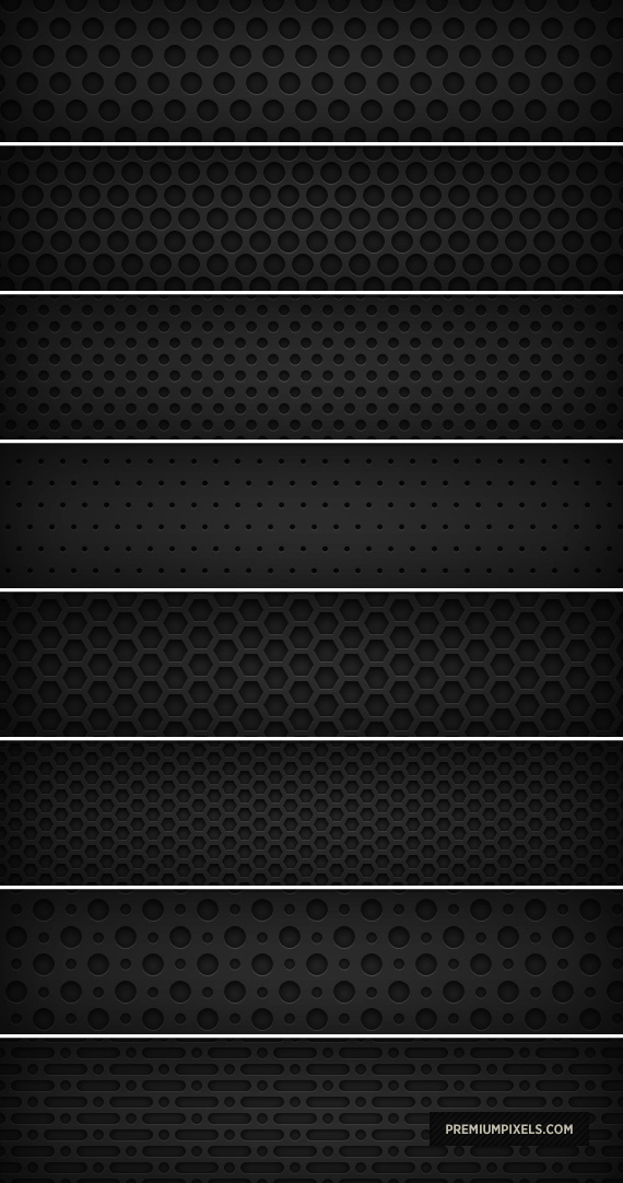 8 Dark Metal Grid Patterns by ormanclark