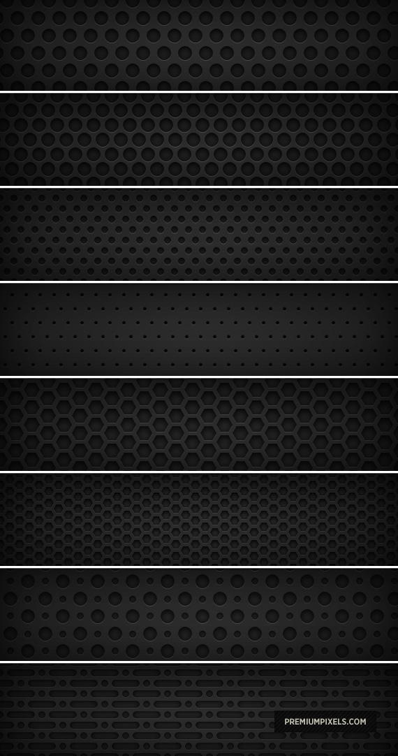 8 Dark Metal Grid Patterns