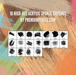 18 Free Acrylic Sponge Brushes