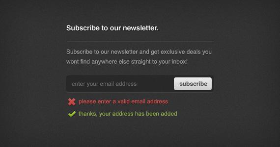 Newsletter Sign-up Form - PSD