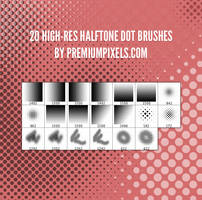 20 Free Halftone Dot Brushes by ormanclark
