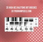 20 Free Halftone Dot Brushes
