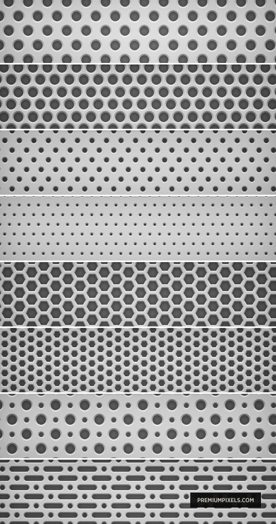 8 Light Metal Grid Patterns by ormanclark