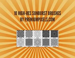 10 High Res Sunburst Brushes
