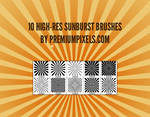 10 High Res Sunburst Brushes