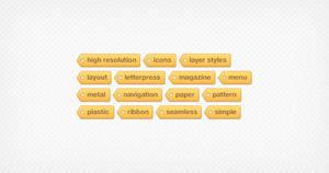 Tagtastic Tag Cloud - PSD