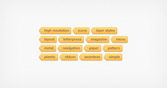 Tagtastic Tag Cloud - PSD by ormanclark