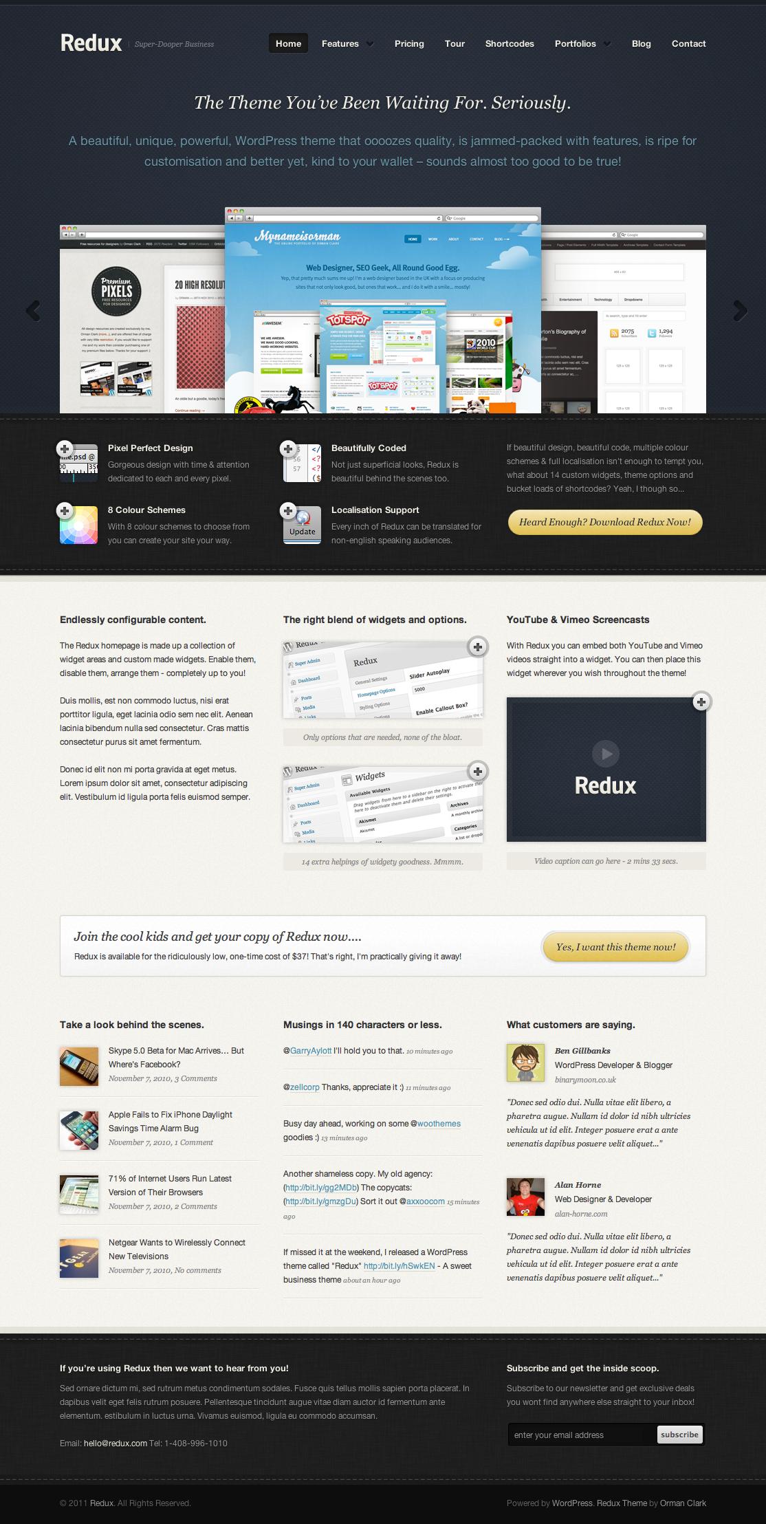 Redux WordPress Theme