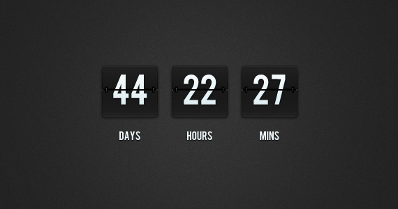 Flip Clock Countdown PSD by ormanclark